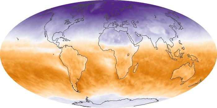 Global Map Net Radiation Image 65