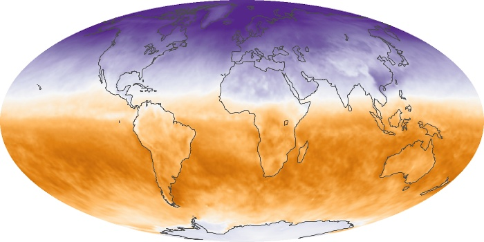 Global Map Net Radiation Image 67