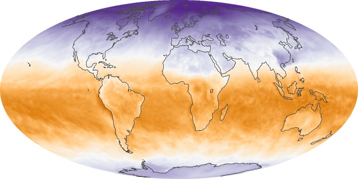 Global Map Net Radiation Image 68