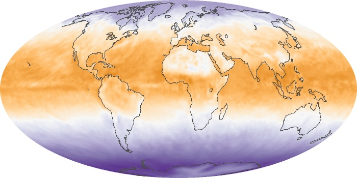Global Map Net Radiation Image 70