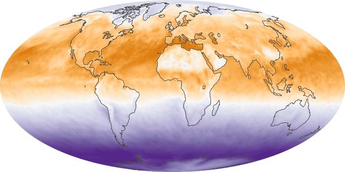 Global Map Net Radiation Image 71