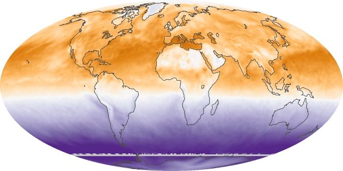 Global Map Net Radiation Image 72