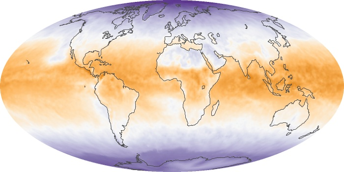 Global Map Net Radiation Image 75