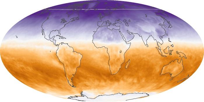 Global Map Net Radiation Image 78