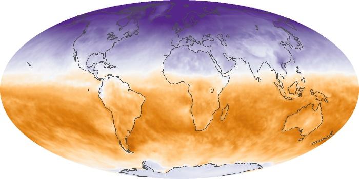 Global Map Net Radiation Image 79
