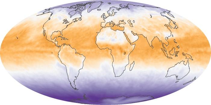 Global Map Net Radiation Image 82