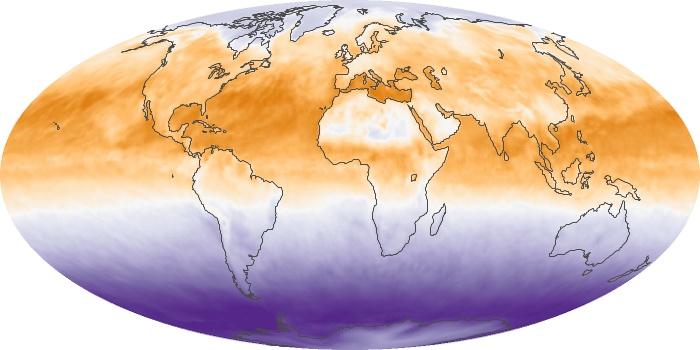 Global Map Net Radiation Image 83