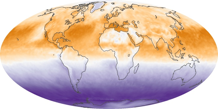 Global Map Net Radiation Image 85