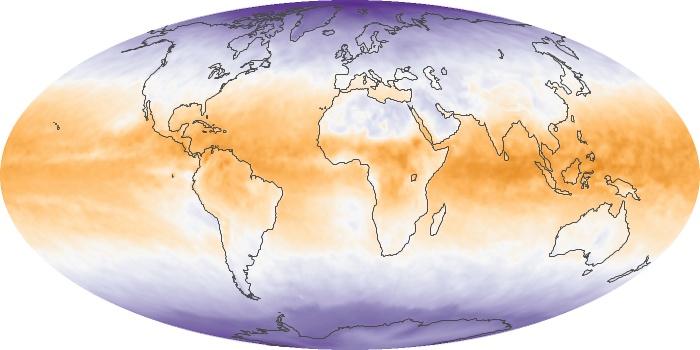 Global Map Net Radiation Image 87