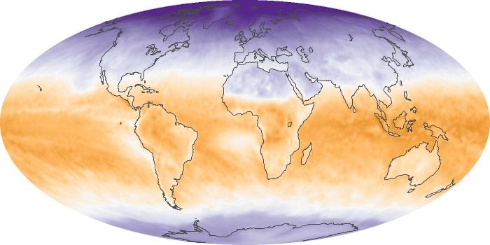 Global Map Net Radiation Image 88
