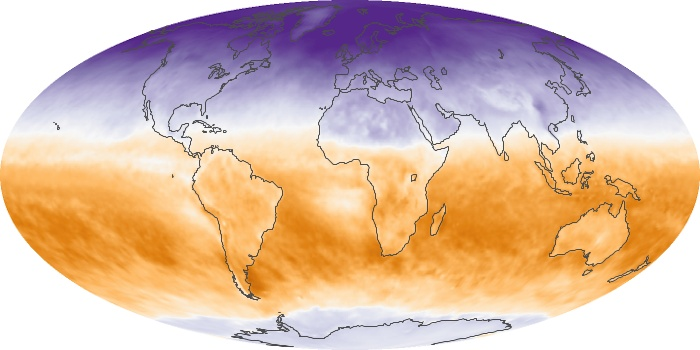 Global Map Net Radiation Image 89