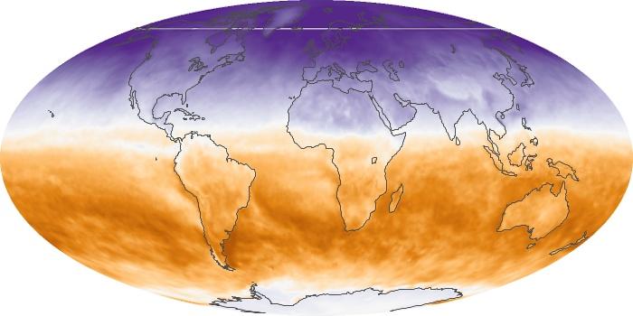Global Map Net Radiation Image 90