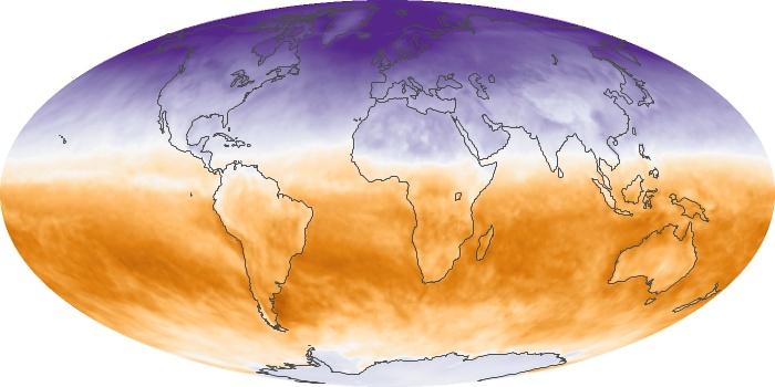 Global Map Net Radiation Image 91