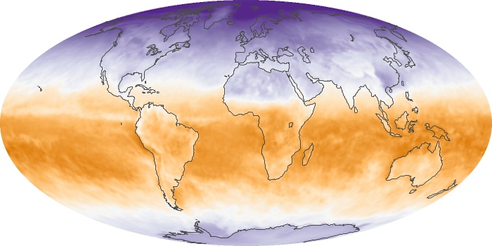 Global Map Net Radiation Image 92