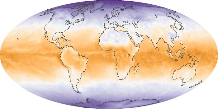 Global Map Net Radiation Image 93