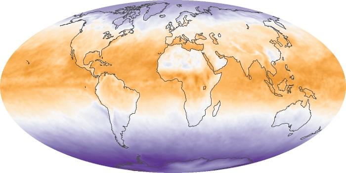 Global Map Net Radiation Image 94