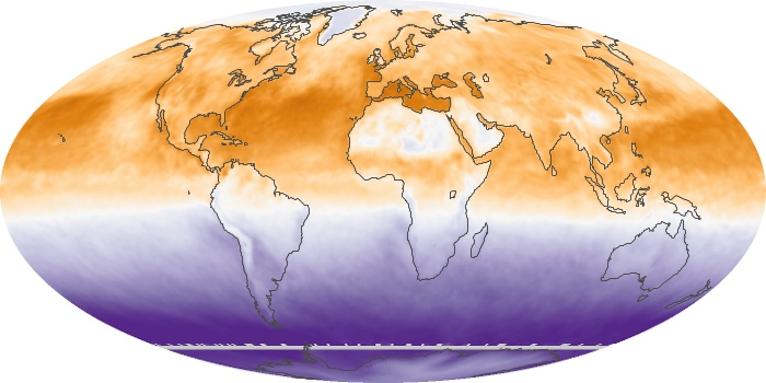 Global Map Net Radiation Image 96
