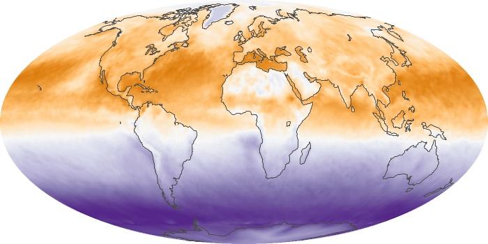 Global Map Net Radiation Image 97