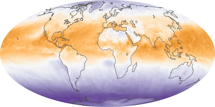 Global Map Net Radiation Image 98