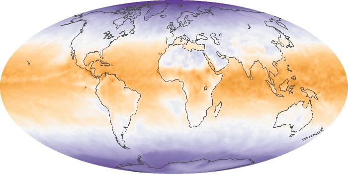 Global Map Net Radiation Image 99