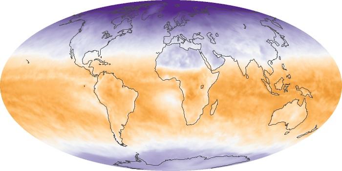 Global Map Net Radiation Image 100