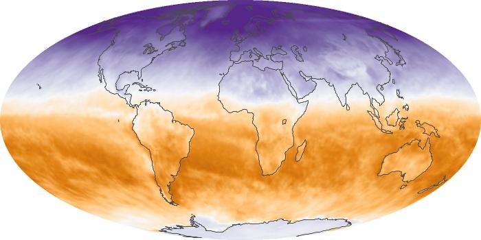 Global Map Net Radiation Image 103