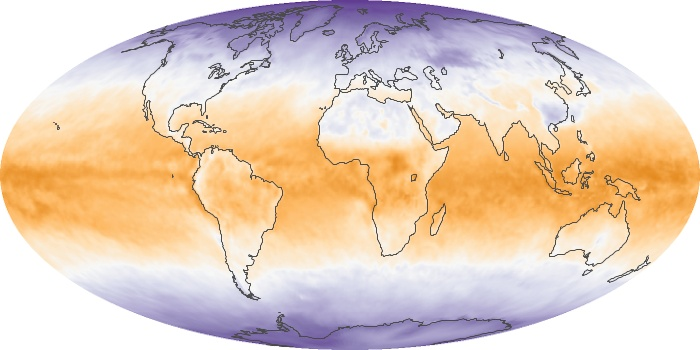 Global Map Net Radiation Image 105
