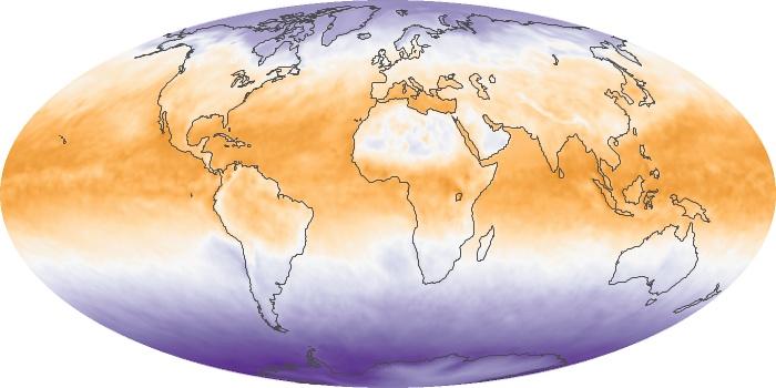 Global Map Net Radiation Image 106