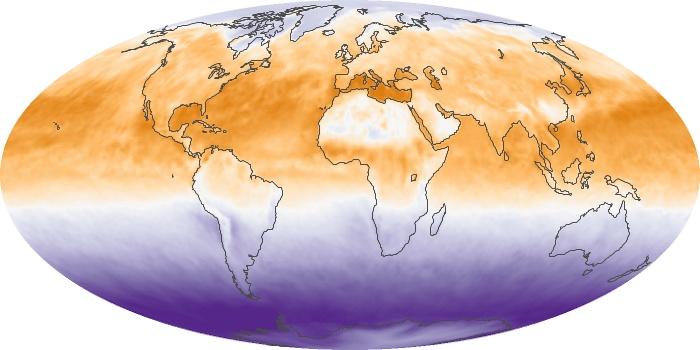 Global Map Net Radiation Image 107