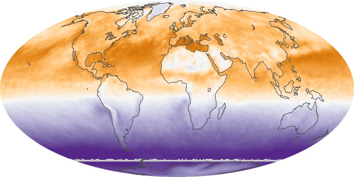 Global Map Net Radiation Image 108