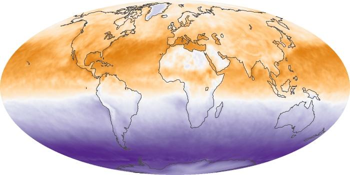 Global Map Net Radiation Image 109