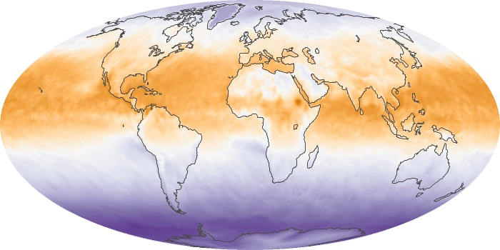 Global Map Net Radiation Image 110