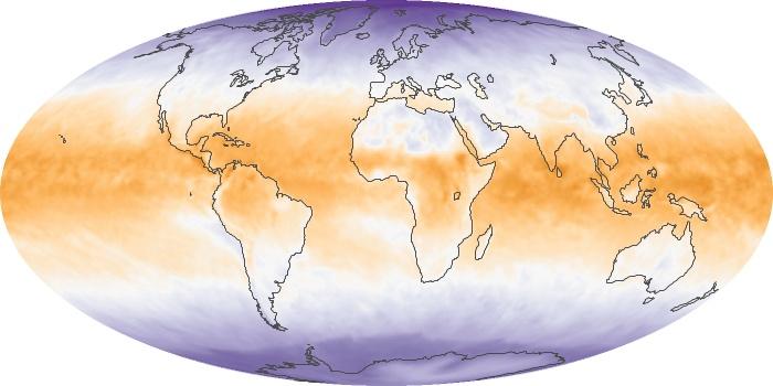 Global Map Net Radiation Image 111