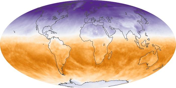 Global Map Net Radiation Image 115