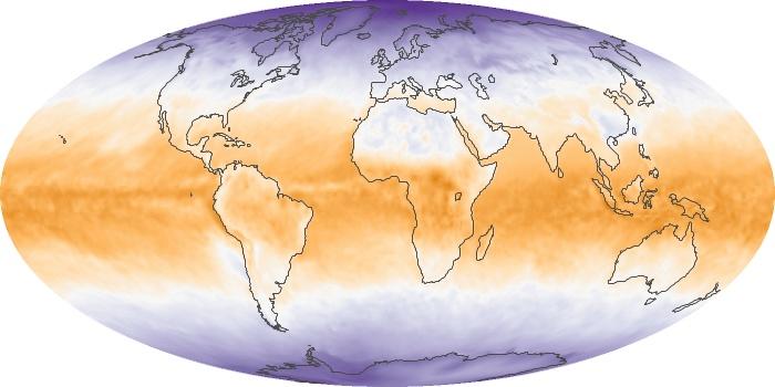 Global Map Net Radiation Image 117