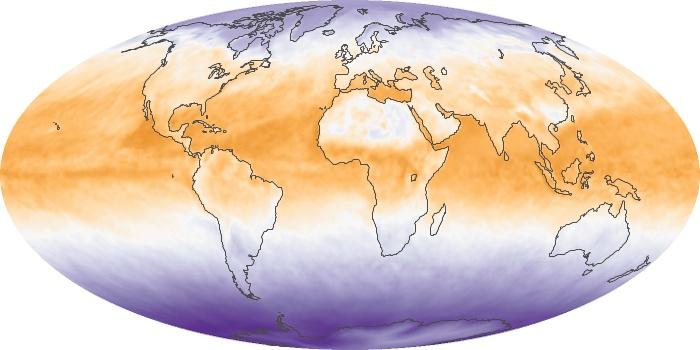 Global Map Net Radiation Image 118