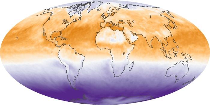 Global Map Net Radiation Image 119