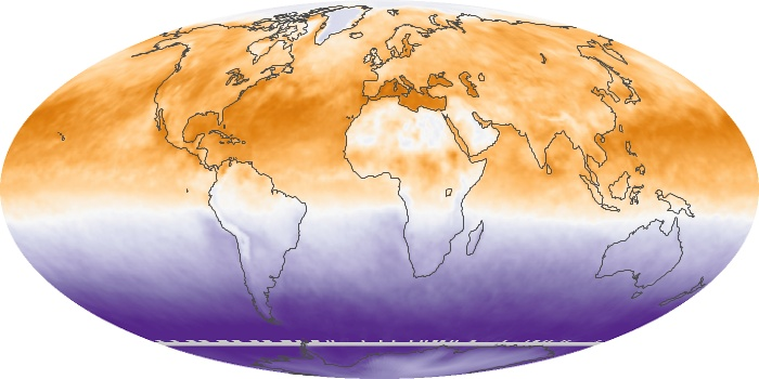 Global Map Net Radiation Image 120