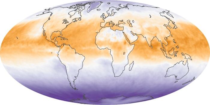 Global Map Net Radiation Image 122