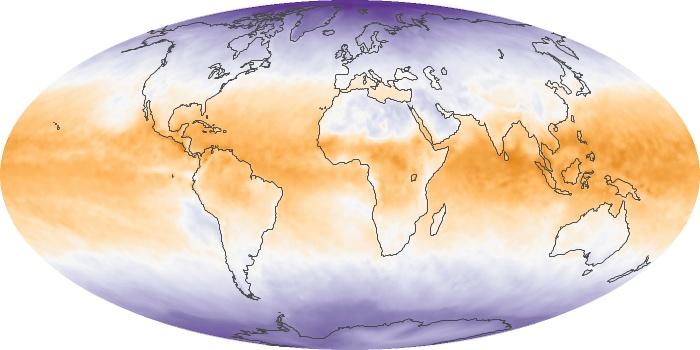 Global Map Net Radiation Image 123