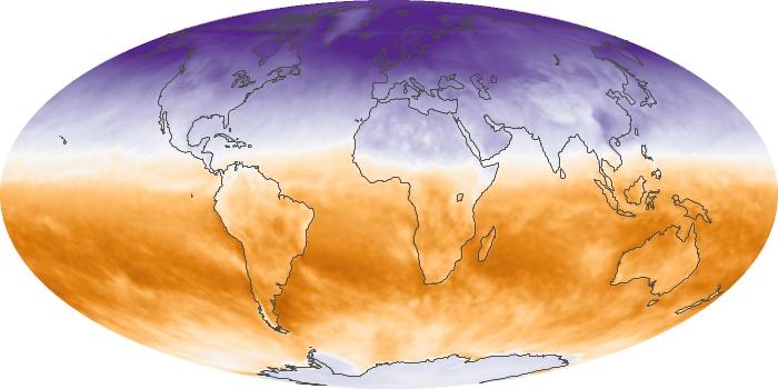 Global Map Net Radiation Image 127