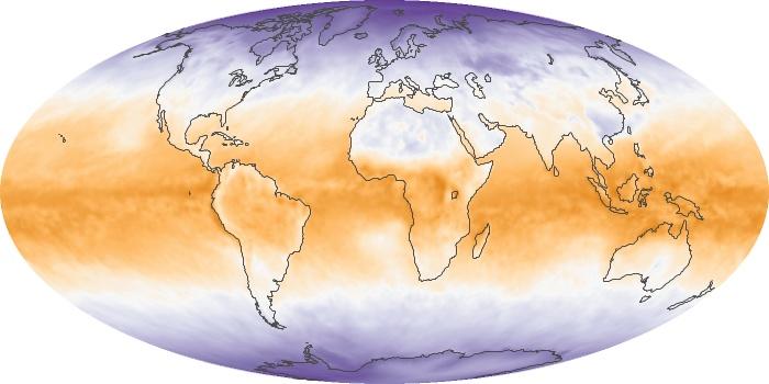Global Map Net Radiation Image 129