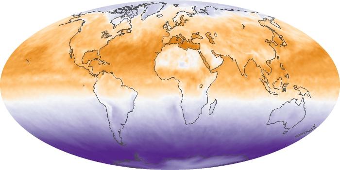Global Map Net Radiation Image 131