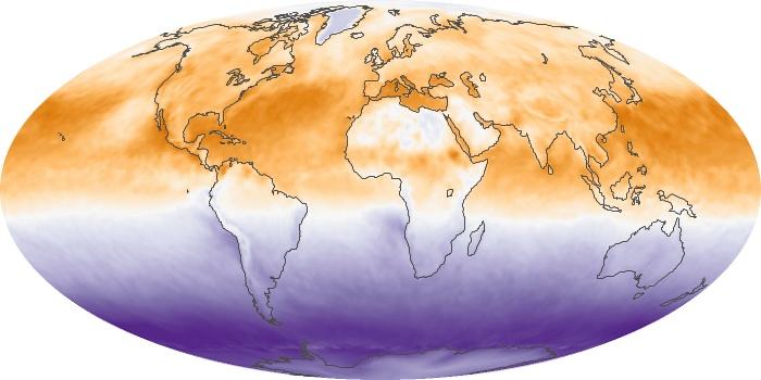 Global Map Net Radiation Image 133