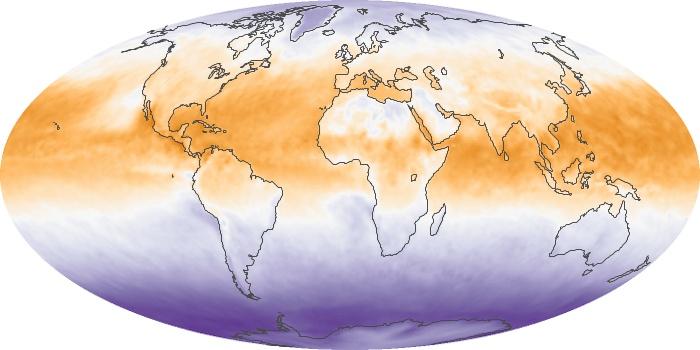Global Map Net Radiation Image 134