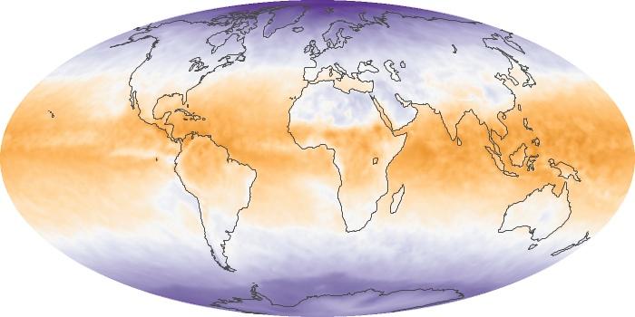 Global Map Net Radiation Image 135