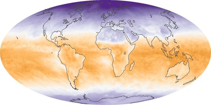 Global Map Net Radiation Image 136