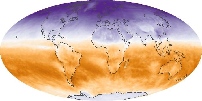 Global Map Net Radiation Image 139