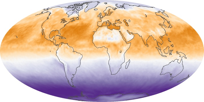 Global Map Net Radiation Image 143