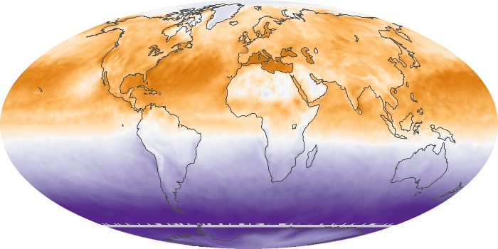 Global Map Net Radiation Image 144